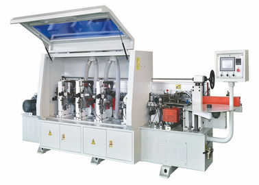 High Efficiency Woodworking Edge Banding Machine With PLC Touch Screen